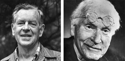 Two photographs: one of Joseph Campbell, and another of Carl Jung