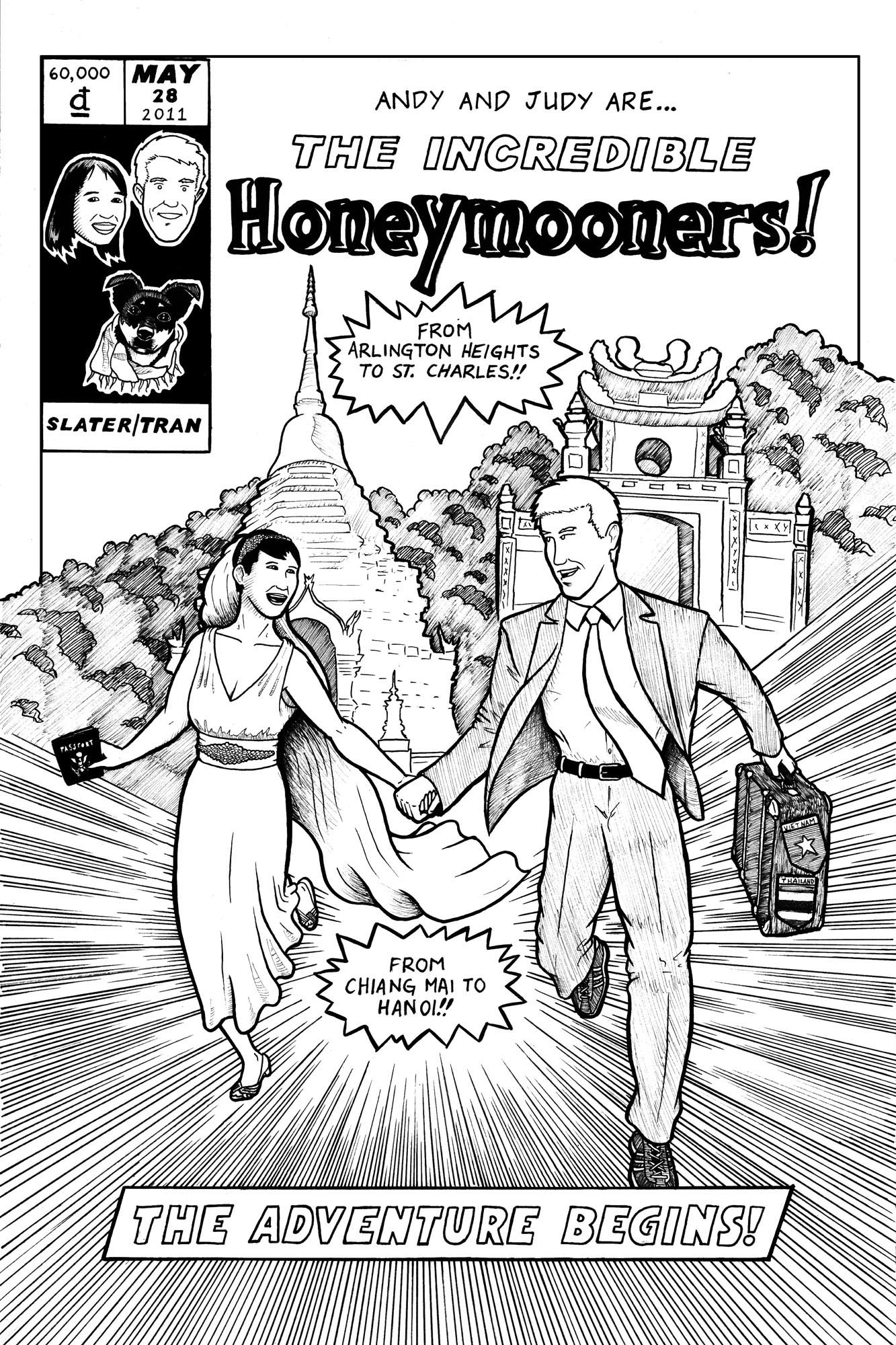 Honeymoon Comic Cover ~ Client: Joe Hausfeld ~ Chicago, IL ~ 2011 (Inks)