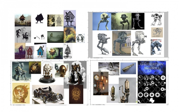 House Romana, Reference/Inspiration sheets