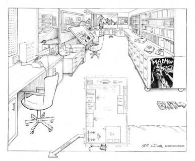 Exercise: Ideal Studio - Conceptual Design ~ Pencil Illustration ~ Spring 2004 ~ Lansing Community College ~ Lansing, MI