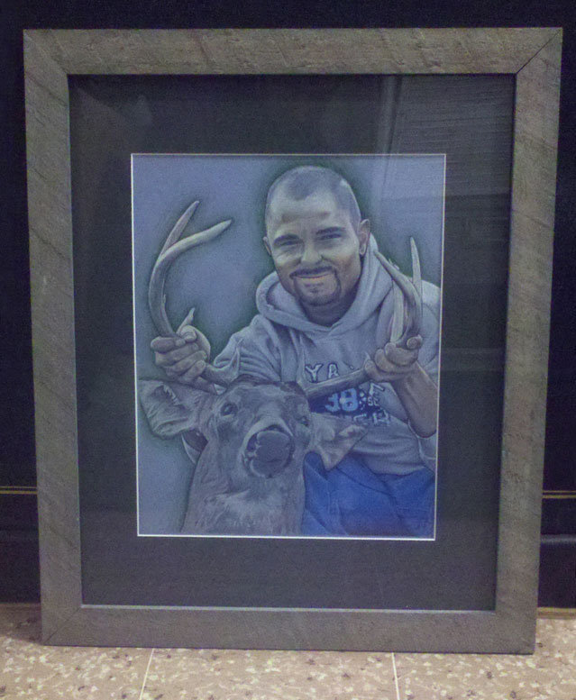 Commemorative Portrait of Joshua Weage - Framed