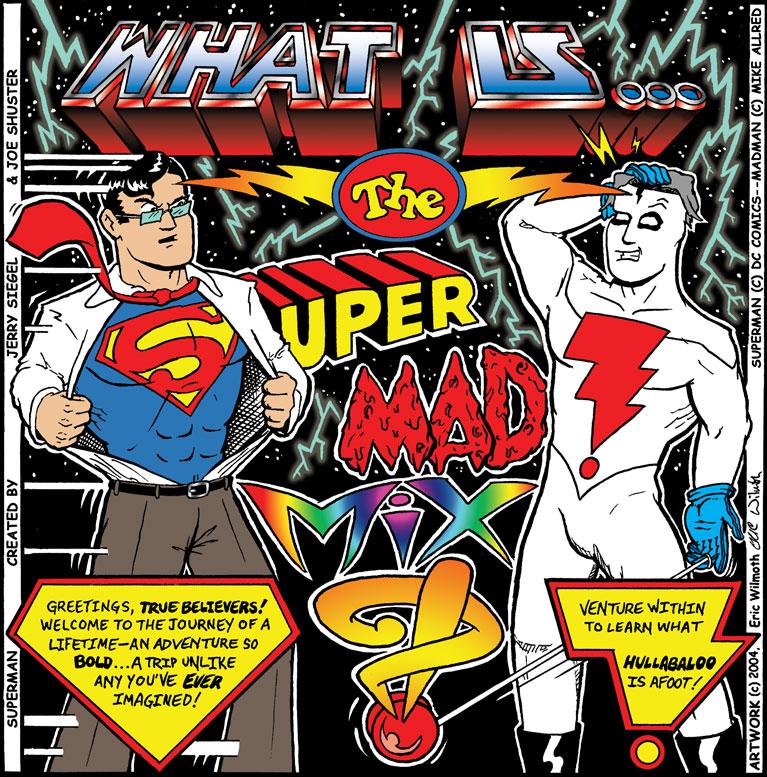 Personal: Super Mad Mix ~ Album Art ~ Pencil & Ink Illustration + Digital Colors ~ Fall 2004