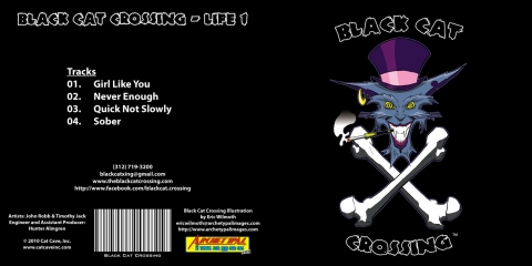 Client: Black Cat Crossing - Cat Cave Productions ~ CD/Album Design - Adobe Illustrator - 4/2010 - Chicago, IL