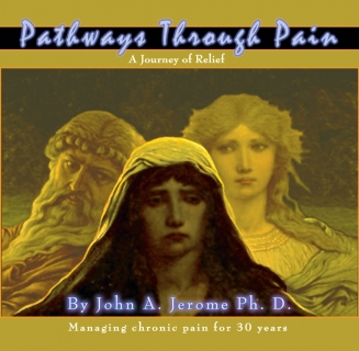 Client: Dr. John Jerome, Ph. D. ~ Pain Therapy Audio Disk Packaging Design, Front Ext. ~ Adobe Photoshop ~ 11/2006 ~ Lansing, MI