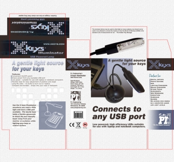 Client: P.I. Engineering ~ Packaging Design for USB powered desk light ~ Adobe Photoshop ~ 9/2007 ~ Williamston, MI