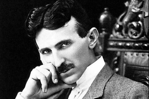 Photograph of Nikola Tesla, Serbian American inventor and the father of modern electricity