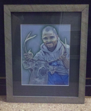 Commemorative Portrait of Joshua Weage - Framed