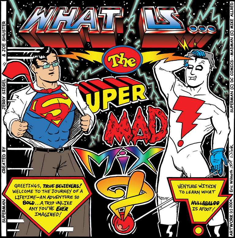 Personal: Super Mad Mix ~ Album Art ~ Pencil & Ink Illustration + Digital Colors ~ Fall 2004