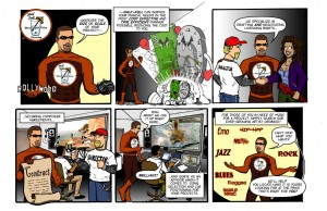 Half-Full Music Super-Vision - Services Comic