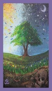 Kaleidoscope Moon Business Card - front